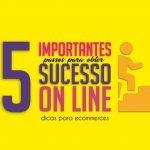 5 importantes passos parar fazer sucesso online
